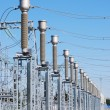 A row of cutouts filled with high voltage gas — Stock Photo #6644934