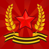 Star of Victory day — Vector de stock