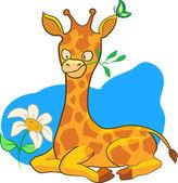Cartoon afbeelding giraffe — Stockvector