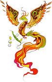 Phoenix vector illustartion — Stock Vector