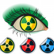Stock Vector: Radioactive ikons