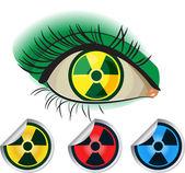 Radioactive ikons — Stock Vector
