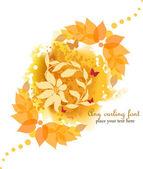 Autumn Flower Background — Stock Vector