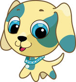 Cute puppy vector illustration — Stock Vector