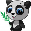 Cute panda vector illustration — Stock Vector