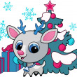 Christmas deer vector illustration — Vector de stock #5830682