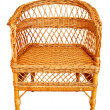 Stock Photo: Wicker chair