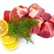 Pork with lemon and dill — Stock Photo