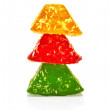 Jelly pyramid — Stock Photo