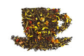 Mixture of dry tea in a cup — Stock Photo