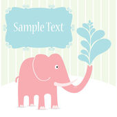 Pink elephant — Stock Vector