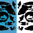 Royalty-Free Stock Vector Image: Fish silhouettes