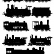 Stock Vector: Steam locomotive