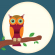 Stock Vector: Vector cartoon Owl