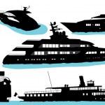 Motor yacht vector — Stock Vector #6266687