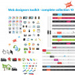 Stock Vector: Web designers toolkit - complete collection 10