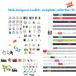 Web designers toolkit - complete collection 10 — Stock Vector