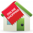 online shopping icon — Stock Vector