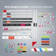 Vector de stock : Web designers toolkit - pathmaster collection