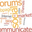 Stockvector : Word cloud social marketing
