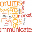Vecteur: Word cloud social marketing