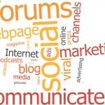 Word cloud social marketing — Stock Vector