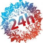 24h symbol — Stock Vector