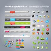 Web designers toolkit - collection pathmaster — Vecteur