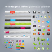 Web designers toolkit - pathmaster collection — Vettoriale Stock