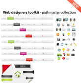 Web designers toolkit - pathmaster collection — ストックベクタ