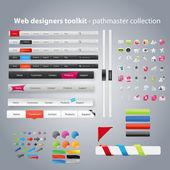 Web デザイナー ・ ツールキット - pathmaster コレクション — ストックベクタ
