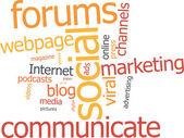 Word cloud social marketing — Vettoriale Stock