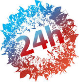 24 h シンボル — ストックベクタ