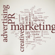 Marketing word cloud - Stock fotografie