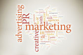 Nuage de mot marketing — Photo