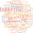 Marketing word cloud — Vettoriale Stock #6460787
