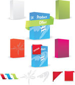 Product box design set — Stock Vector