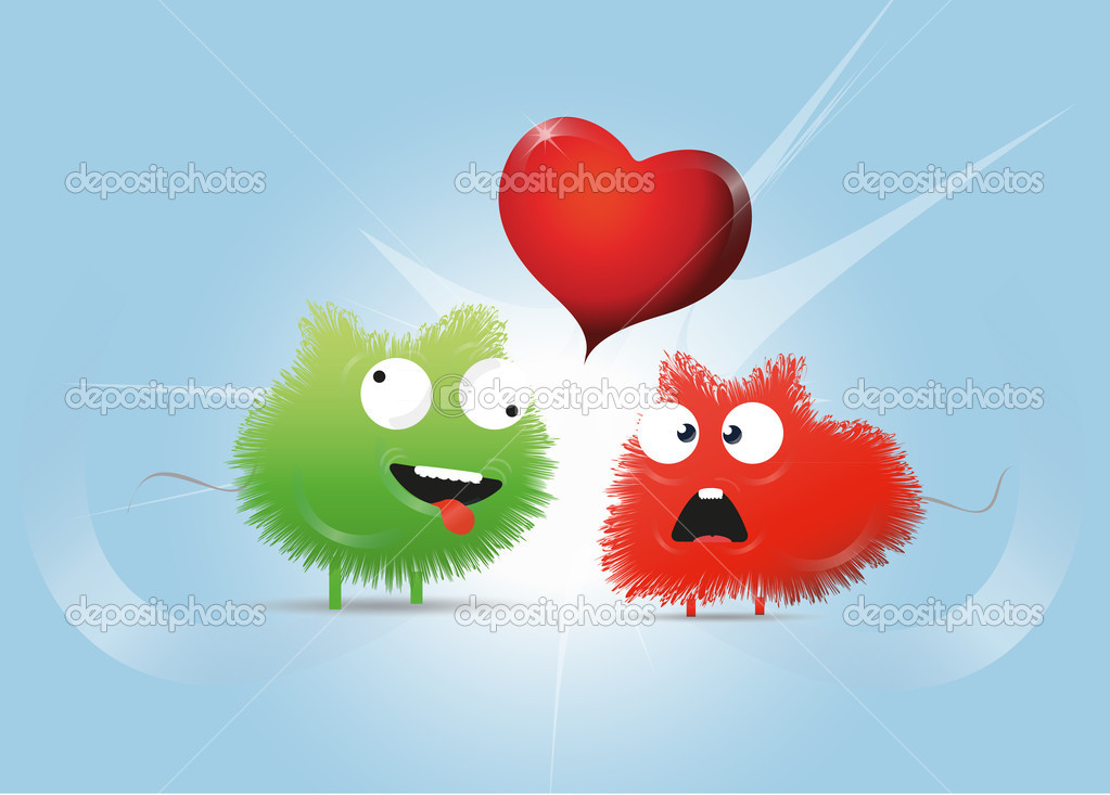 Cartoons in love  Stock Vector #6460784