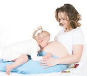 Enfants et femmes enceintes — Photo