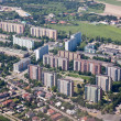 Warsaw view from plane - Stock Photo