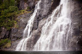 Waterfall on the bank of Lysefjorden in Norway — Stock Photo