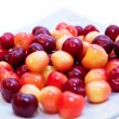 Stock Photo: Sweet cherries plate