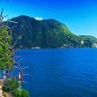 Lugano lake view — Stock Photo