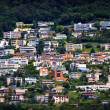 Lugano city houses — Stock Photo