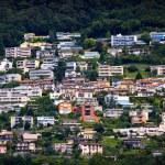 Lugano city houses — Stock Photo #6383837