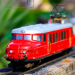 Stock Photo: Miniature train in Switzerland miniature