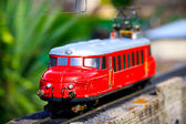 Miniature train in Switzerland miniature — Stock Photo