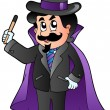 Cartoon magician - Stock Vector