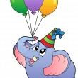 Circus elephant with balloons 1 — Stock Vector