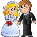Cute wedding couple — Stock Vector #5423978